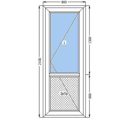 Вхідні пластикові двері: